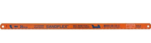 Hoja bi-metal Sandflex, virtualmente irrompible frente a todos los materiales y todos los tipos de corte.